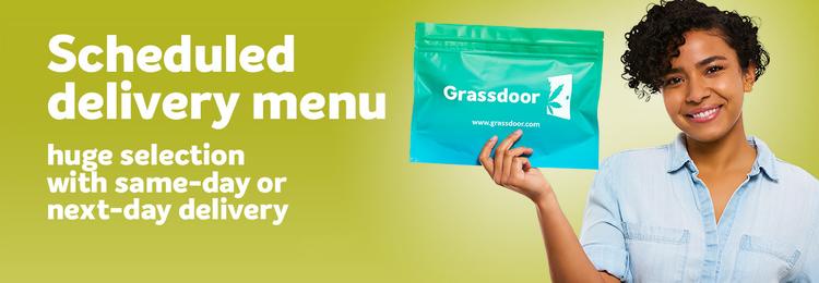 Grassdoor Weed Delivery Scheduled Menu Banner