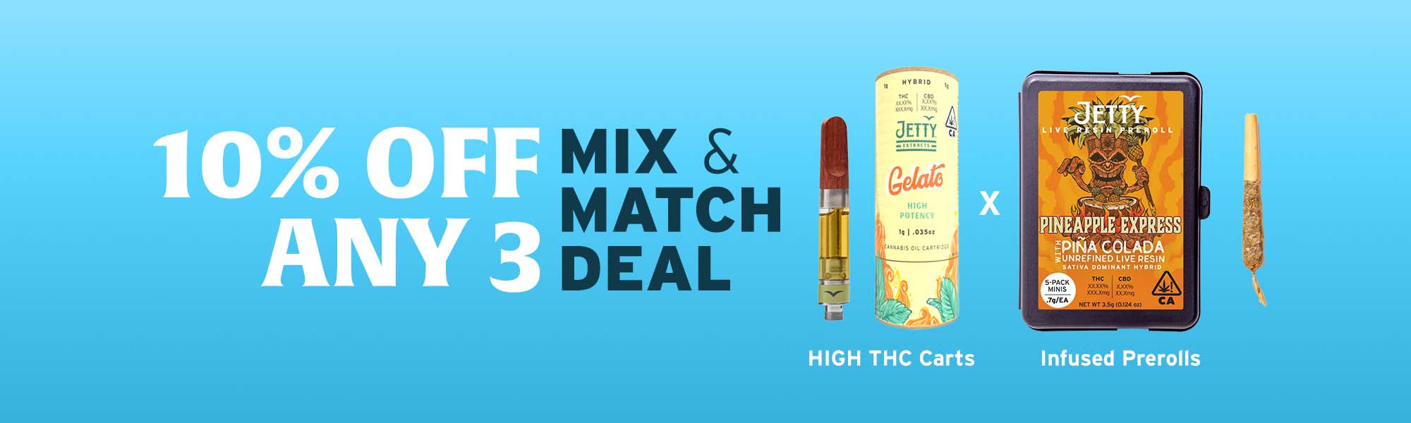 Mix and Match Deal - 10% Off Any 3