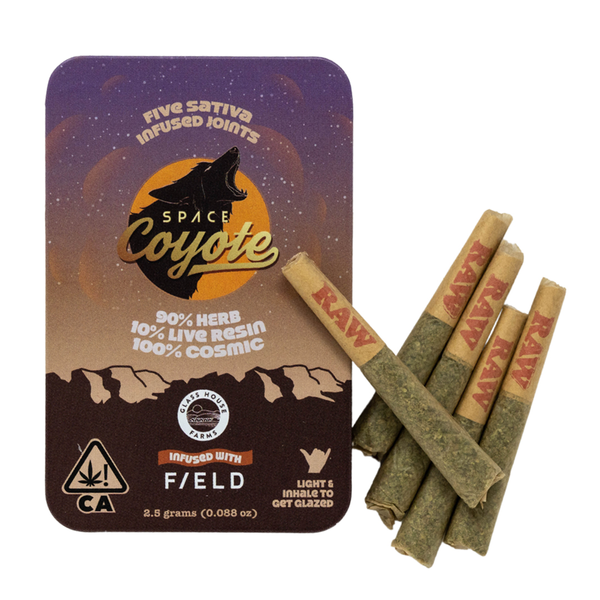 Space Coyote x F/ELD Live Resin Infused 5pk - Sativa